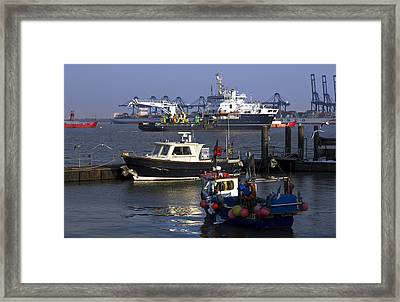 Industry At Sea Framed Print by Darren Burroughs
