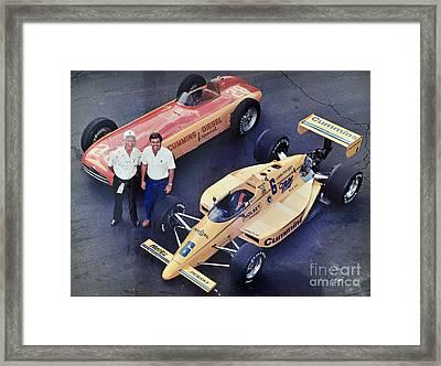 Indy 500 Historical Race Cars Framed Print by John Black