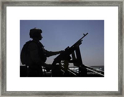 Information Systems Technician Manning Framed Print by Stocktrek Images
