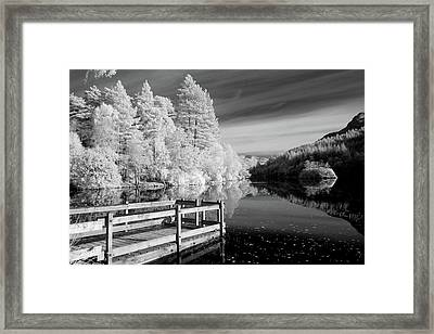 Infrared Glencoe Lochan Framed Print by Billy Currie Photography
