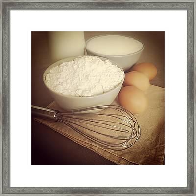Ingredients For Cake Framed Print by Salomé Fresco