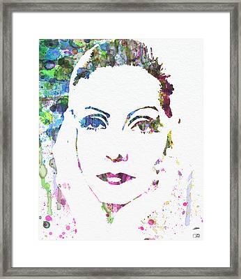 Ingrid Bergman  Framed Print by Naxart Studio