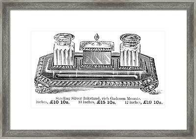Inkstand, 19th Century Framed Print by Granger