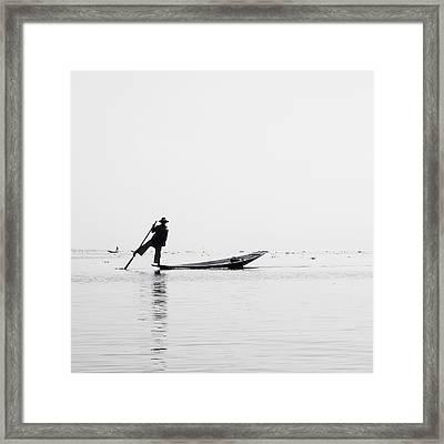 Inle Fisher Framed Print by Nina Papiorek