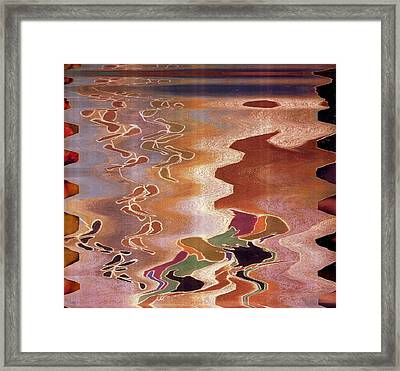 Inlet With Abstract Attraction Framed Print by Anne-Elizabeth Whiteway