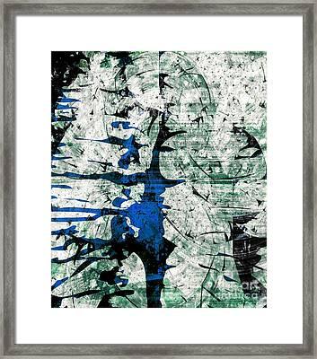 Inner Energy Dance Framed Print by Fania Simon