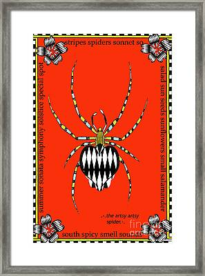 Insects Juvenile Licensing Art Framed Print by Anahi DeCanio