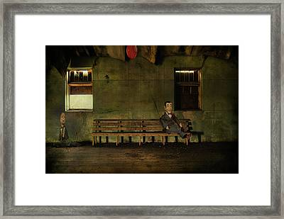 Insecurity Of A Wallflower  Framed Print by JC Photography and Art