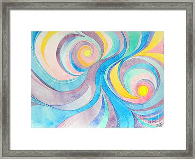 Inside The Feather Framed Print by Sue Gardiner