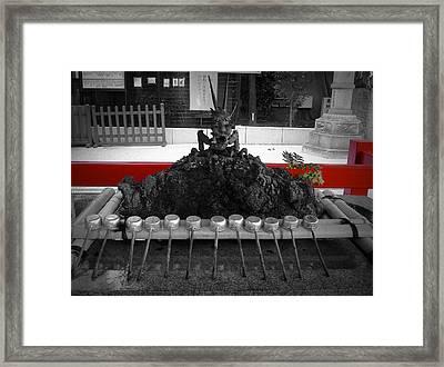 Inside The Shrine Framed Print by Naxart Studio