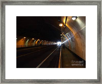 Inside The Stockton Street Tunnel In San Francisco . 7d7363.3 Framed Print by Wingsdomain Art and Photography
