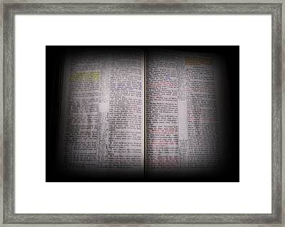 Inspirations 16 John 1 V14 Framed Print by Sara  Raber