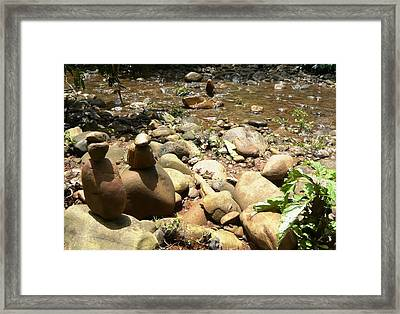 Installation By The River Framed Print by Piety Dsilva