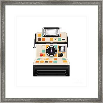 Instant Camera Framed Print by Setsiri Silapasuwanchai