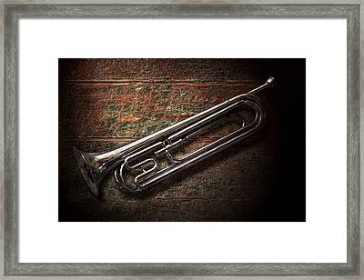Instrument - Horn - The Bugle Framed Print by Mike Savad