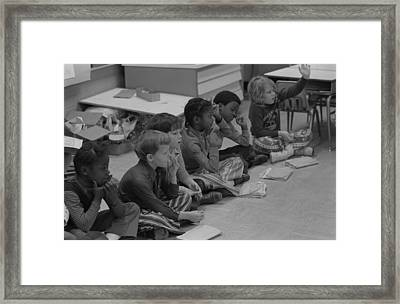 Integrated First Grade Class Of African Framed Print by Everett
