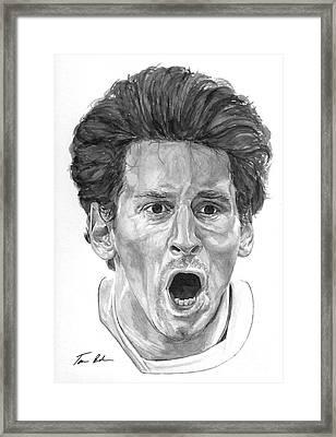 Intensity Lionel Messi Framed Print by Tamir Barkan