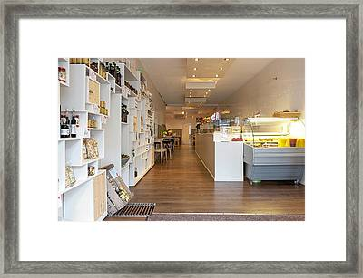Interior Of A Lunchroom In The Hague Framed Print by Corepics