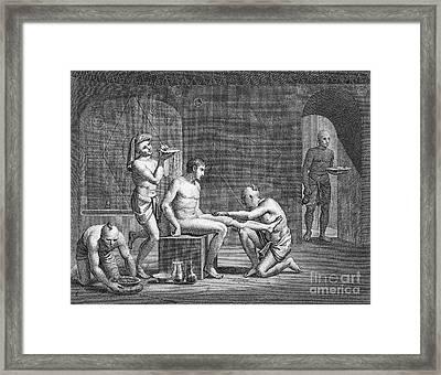 Interior Of Egyptian Bath Framed Print by Granger