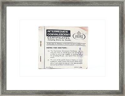 Intermediate Convalescent Certificate Framed Print by Gregory Davies, Medinet Photographics