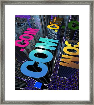Internet City Framed Print by Victor Habbick Visions