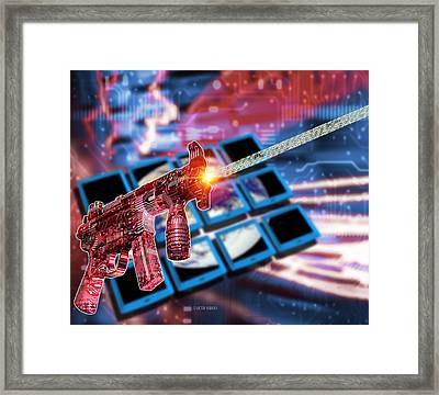 Internet Terrorism Framed Print by Victor Habbick Visions