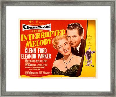Interrupted Melody, Eleanor Parker Framed Print by Everett