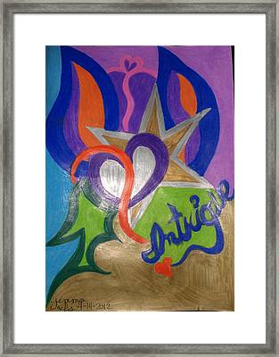 Intigue Framed Print by Jemma Starseed