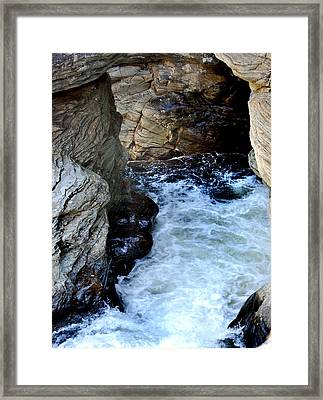 Into The Abyss Framed Print by Skip Willits