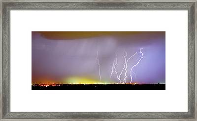 Into The Colorful Night Framed Print by James BO  Insogna