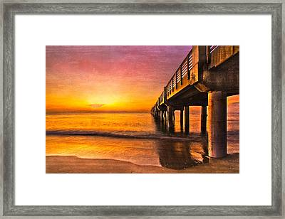 Into The Light Framed Print by Debra and Dave Vanderlaan