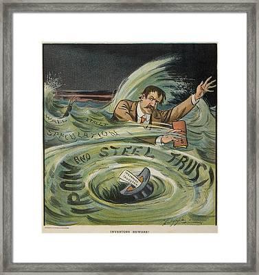 Investors Beware Cartoon Shows Framed Print by Everett