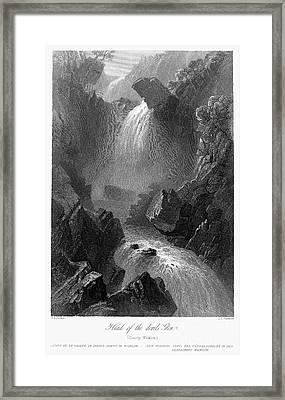 Ireland: Devils Glen, C1840 Framed Print by Granger