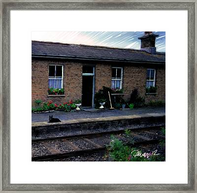 Ireland Series - Crossing Station Dog Framed Print by Jim Pavelle