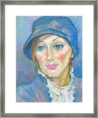 Irina Bondareva Framed Print by Leonid Petrushin