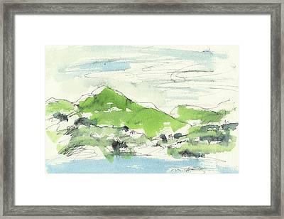 Irish Bay Framed Print by Marilyn MacGregor