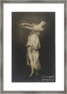 Irma Duncan Framed Print by Arnold Genthe