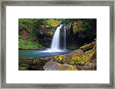 Iron Creek Falls Framed Print by Marcus Angeline