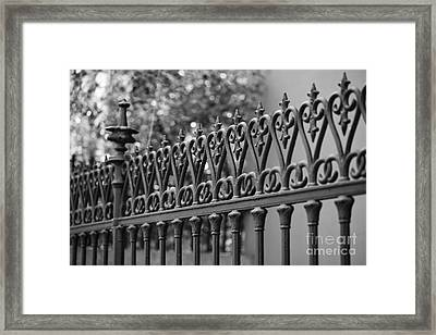 Iron Heart Framed Print by Leslie Leda