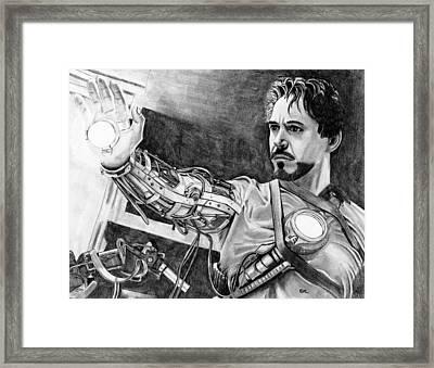 Iron Man Framed Print by Gil Fong