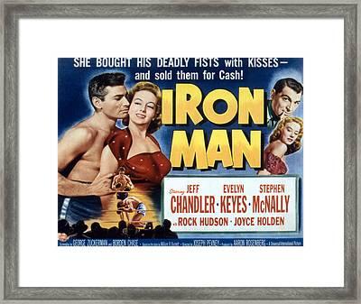 Iron Man, Jeff Chandler, Evelyn Keyes Framed Print by Everett