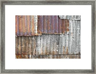 Iron Weathering A Variety Of Wall Framed Print by Chavalit Kamolthamanon