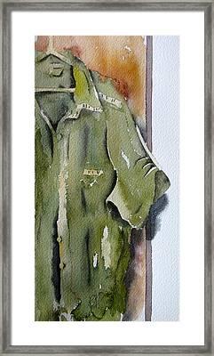 Ironing Day Framed Print by Ramona Kraemer-Dobson