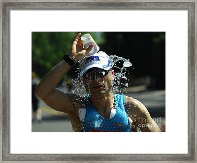 Ironman 2012 A Long Day Framed Print by Bob Christopher
