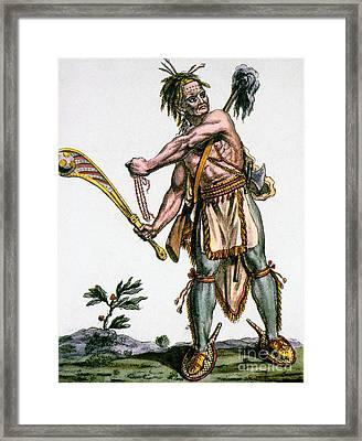 Iroquois Warrior Framed Print by Granger