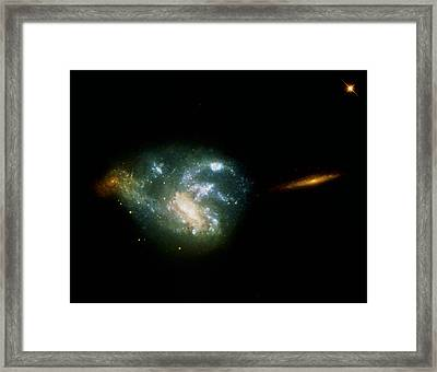 Irregular Galaxy Ngc 7673 Framed Print by Nasaesastsci
