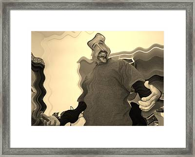 Is The Room Spinin Or Is It Me Framed Print by Joshua Sunday