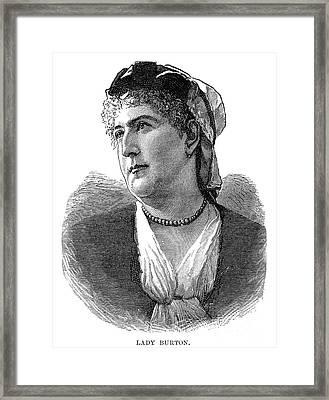 Isabel Burton (1831-1896) Framed Print by Granger