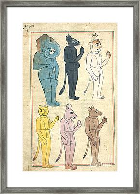 Islamic Demons, 17th Century Framed Print by Photo Researchers