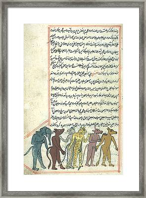 Islamic Demons, Jinns, 16th Century Framed Print by Photo Researchers